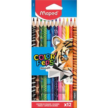 MAPED 12 crayons de couleur FSC COLOR'PEPS ANIMALS en pochette carton