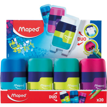 MAPED Taille-crayons gomme CONNECT. 2 usages. coloris assortis