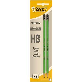 BIC Criterium 550 Crayons à Papier - HB, Blister de 2
