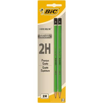 BIC Criterium 550 Crayons à Papier - 2H, Blister de 2