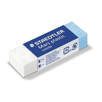 STAEDTLER Mars® plastic combi 526 508 - Gomme blanche et bleue pour l'encre de Chine sans latex 65 x 23 x 13 mm