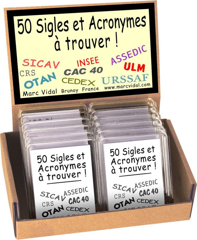 MARC VIDAL 50 Sigles et Acronymes à Trouver