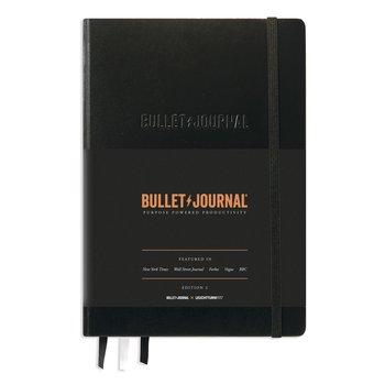 LEUCHTTURM Noir, Bullet Journal - Édition 2, Medium (A5),  papier 120 g/m², 206 p., pointillé