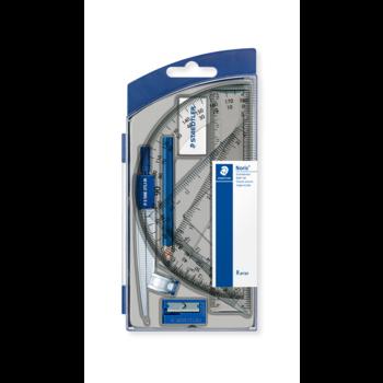 STAEDTLER Noris® 550 - Set scolaire 1 compas scolaire de précision avec attache-compas universelle intégrée + accessoires