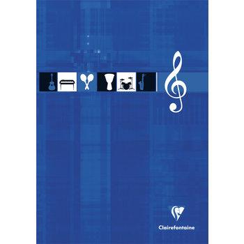 CLAIREFONTAINE Bloc encollé musique - 21x29,7 - 100 pages - Coloris aléatoires