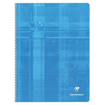 CLAIREFONTAINE Cahier à spirales petits carreaux - 24x32 - 180 pages - Coloris aléatoires