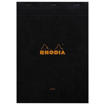 RHODIA Bloc agrafé N°18 A4 80 feuillets ligné + marge 80 g. - Noir