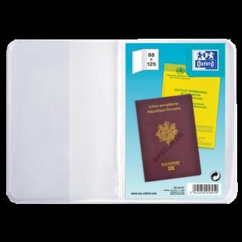 OXFORD OXFORD Etuis pour passeport, 9,5 x 13 cm, en PVC 30/100e. Présentation 2 volets