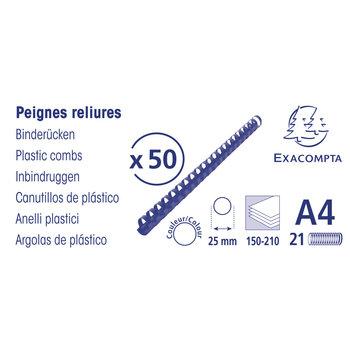 EXACOMPTA Boite 50 peignes plastique 25mm A4 noir