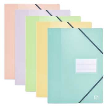 OXFORD Protège-Documents Oxford School Life A4 - 40 Pochettes, 80 vues -  Polypro Opaque - Couleurs Pastels Assorties