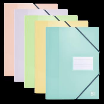 OXFORD Protège-Documents avec Élastiques School Life A4 - 80 Pochettes, 160 vues - Opaque Polypro - Couleurs Pastels Assorties
