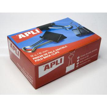 APLI Pinces à clip 51mm 12 unités