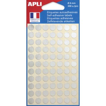 APLI Pastilles argent Ø 8 mm 308 unités