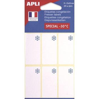 APLI Etiquettes congélateur 25x50 mm 24 unités