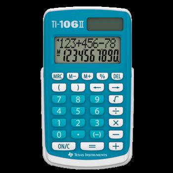 TEXAS INSTRUMENTS Calculatrice Primaire 10 Chiffres TI-106II Bleue