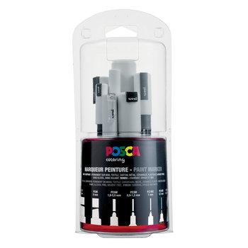 POSCA Kit multi-pointes PC/7A BL Blanc