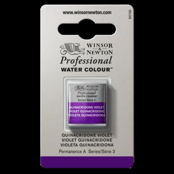 WINSOR & NEWTON Professional Aquarelle 1/2 Godet 550 Quinacridone Violet