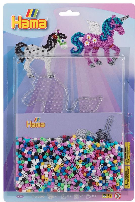 HAMA Midi blister GM plaque licorne + perles