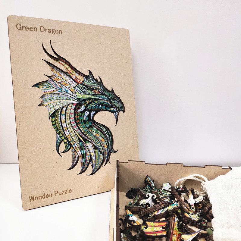 HAPPY PUZZLE Puzzle en bois Dragon 20 x 28 cm