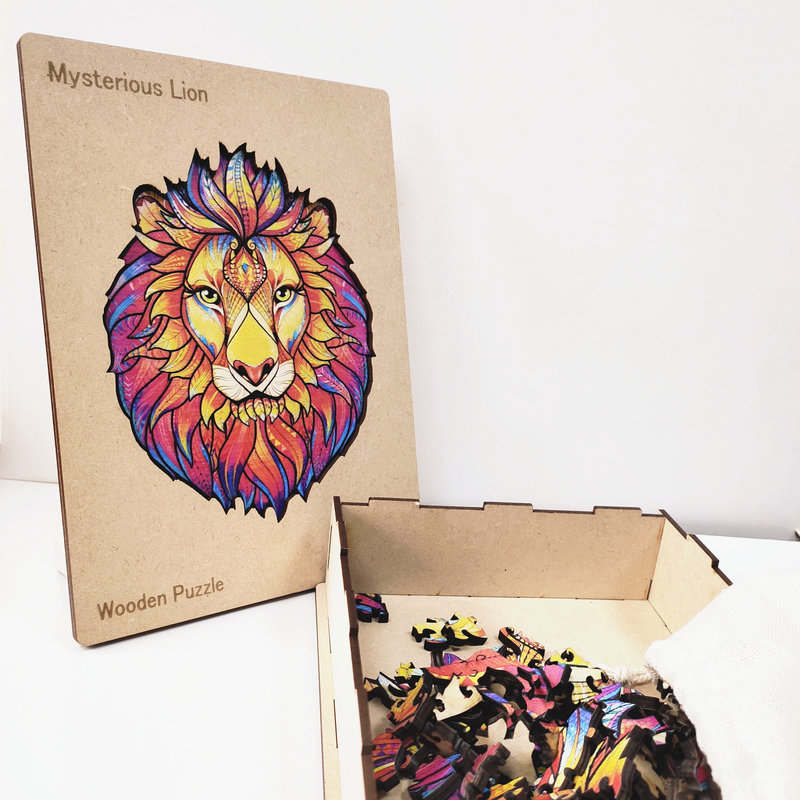 HAPPY PUZZLE Puzzle en bois Lion  21,3 x 28 cm