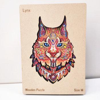 HAPPY PUZZLE Puzzle en bois Lynx 22,1 x 28 cm