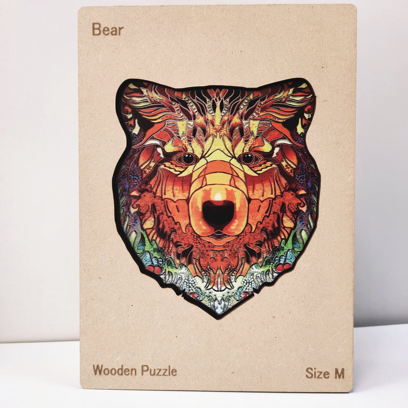 HAPPY PUZZLE Puzzle en bois Ours 22,1 x 28 cm