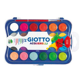 GIOTTO Boîte 24 pastilles aquarelle 30mm + pinceau