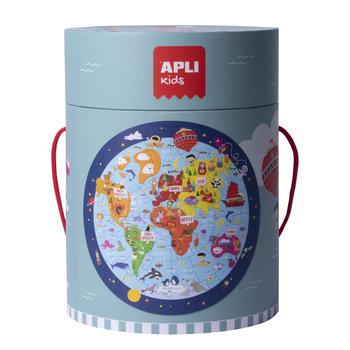 APLI Puzzle circulaire Carte du monde 48 pièces