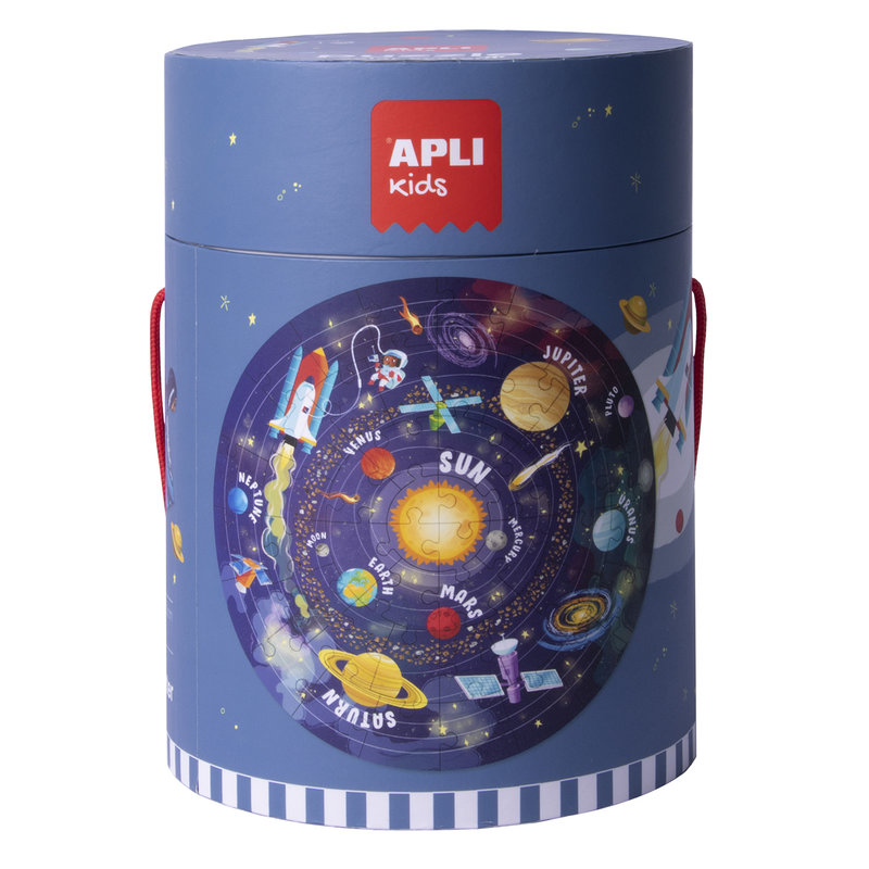 APLI Puzzle circulaire Système Solaire 48 pièces