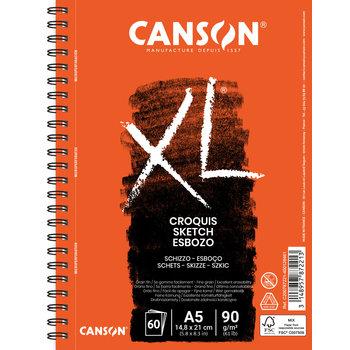CANSON Album 60Fl Long Cote Xl®  A5 90G Croquis