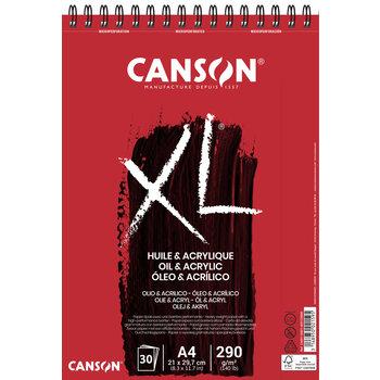 CANSON Album 30Fl Xl® Huile Et Acrylique A4 290G