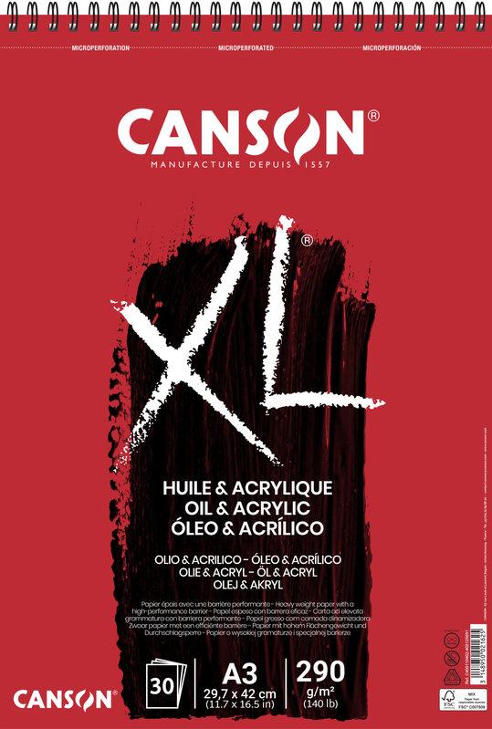CANSON Album 30Fl Xl® Huile Et Acrylique A3 290G