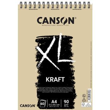 CANSON Album 60Fl Xl® Kraft A4 90G