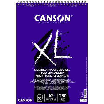 CANSON Album 30Fl Xl® Fluid mixed media A3 250G