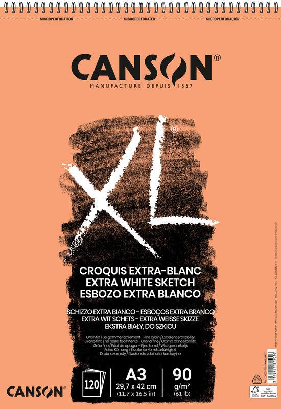 CANSON Album 120Fl Xl® Extra White A3 90G Croquis