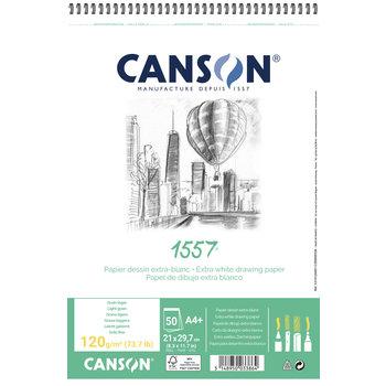 CANSON Album 50Fl Spirale 1557®  A4+ 120g Croquis