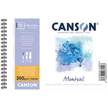 CANSON Album Spirale 12Fl Montval®  A6 300G Grain Fin Blanc Naturel