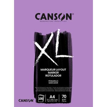 CANSON Bloc  100Sh Xl® marker A4 70G  Blanc