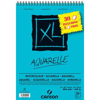 CANSON Album XL Aquarelle A3 300gr 30 feuilles dont 5 offertes