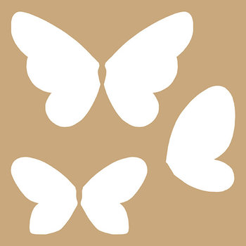 ARTEMIO Pochoir 20x20cm Kraft Papillons
