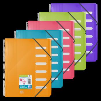 OXFORD Trieur Spir School Life A4 6 Pochettes Polypro Transp couleurs aléatoires