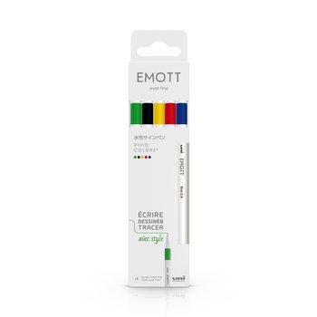 EMOTT Pochette de 5 Feutres pointe fine 0,4 mm Vivid Colors