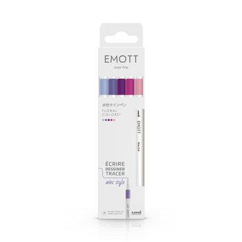 EMOTT Pochette de 5 Feutres pointe fine 0,4 mm Floral colors