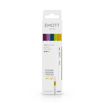 EMOTT Pochette de 5 Feutres pointe fine 0,4 mm Retro colors