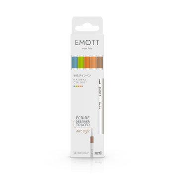 EMOTT Pochette de 5 Feutres pointe fine 0,4 mm Natural Colors