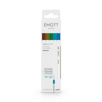 EMOTT Pochette de 5 Feutres pointe fine 0,4 mm Island Colors