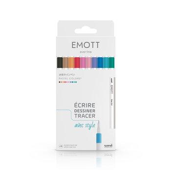 EMOTT Pochette de 10 Feutres pointe fine 0,4 mm Pastel colors
