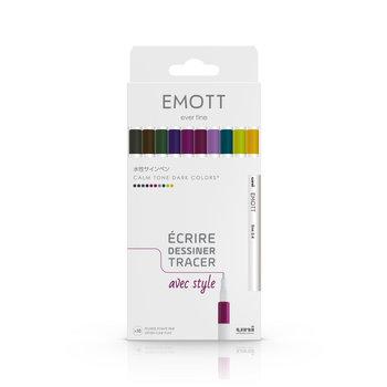 EMOTT Pochette de 10 Feutres pointe fine 0,4 mm Calm-tone colors