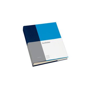SEMIKOLON Album Photo Medium - Marine et aqua - 80 pages crèmes - L 21,6 x H 25,5 cm