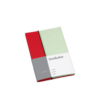 SEMIKOLON Album Photo Leporello -  Cerise et pistache -  L 12,2 × H 17,7 cm